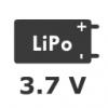 1S 3.7V LiPo Pil