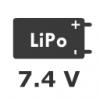 2S 7.4V LiPo Pil