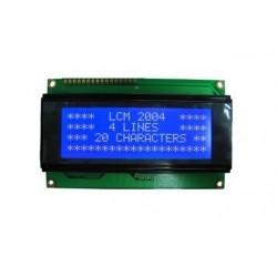 4X20 LCD Ekran Mavi