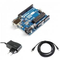Arduino UNO R3 Kombo Kit (Adaptör + USB Kablosu)