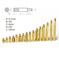 Metal Aralayıcı - M3 10mm Dişi-Erkek